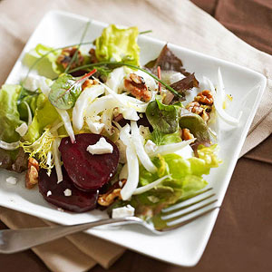 Roasted Beet, Goat Cheese and Fennel Salad
