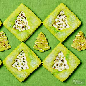 Pistachio Cookie Trees