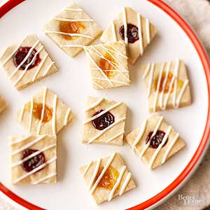 Marmalade Thumbprint Cookie Squares