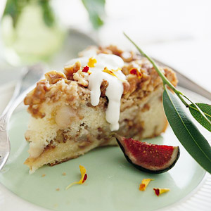 Walnut Pear Sour Cream Cake