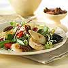 Mesclun Salad with Roasted Pears