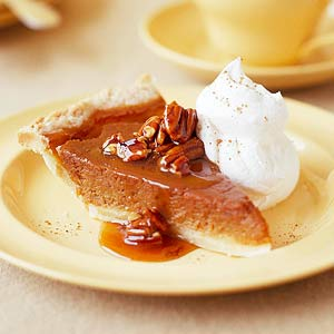 Best Pumpkin Pie With Cranberry Caramel Topper