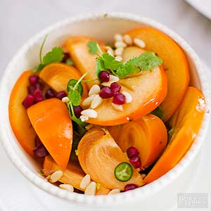 Priscilla's Persimmon and Pomegranate Salad