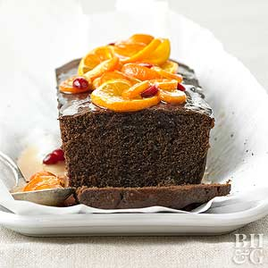 Chocolate Loaf with Butterscotch Glaze