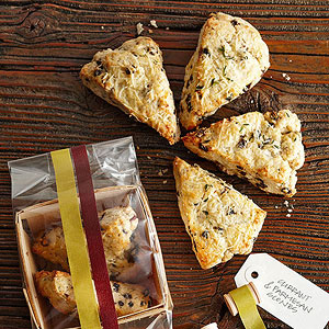 Brandy-Soaked Currant, Thyme, and Parmesan Scones