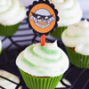 Monkey Cupcake Toppers and Pumpkin Cupcakes