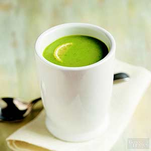 Chilled Lemony Pea Soup