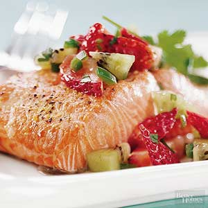 Salmon with Fruit Salsa