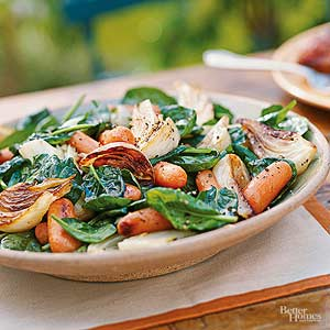 Fennel, Carrot, and Spinach Toss