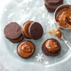 Mexican Chocolate Icebox Cookies with Dulce De Leche Filling