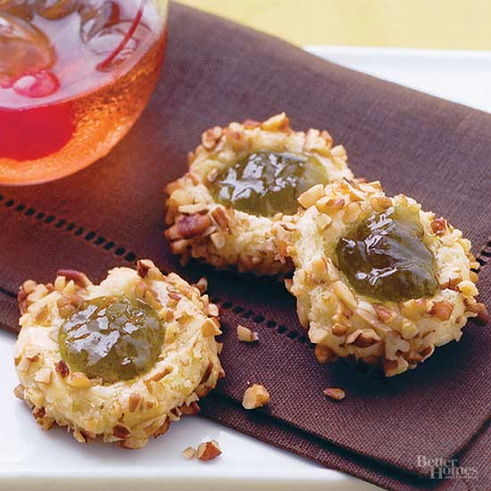 Cheddar-Jelly Thumbprints