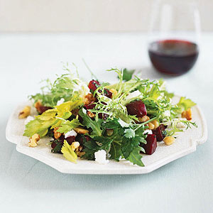 Beet Salad with Goat Cheese & Walnuts