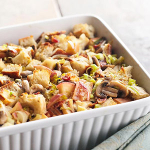 Apple, Bacon, and Leek Stuffing