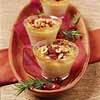 Maple Creme Brulee with Cranberries and Hazelnuts