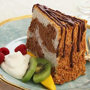 Marble Angel Food Cake
