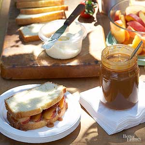 Peach and Pound Cake Sandwiches