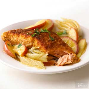 Salmon, Apples, and Fennel