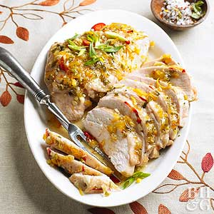Ginger-Orange-Glazed Turkey Breasts