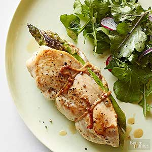 Ham-and-Asparagus-Stuffed Chicken