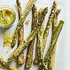 Asparagus Fritter Sticks with Dill Mustard