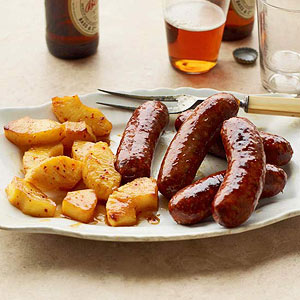 Sausage Links with Pineapple