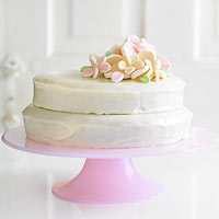 Chiffon Cake with Marshmallow Flowers