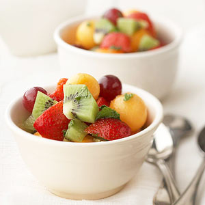 Fruit Bowl Salad with Honey-Mint Dressing