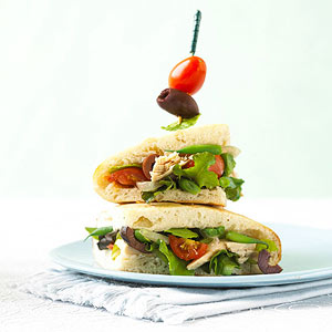 Salad Nicoise on Flatbread