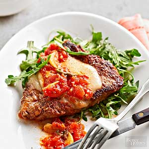 Quick Paprika Steaks with Tomato Gravy