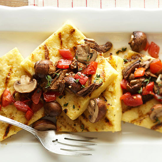 Grilled Polenta with Mushrooms