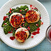 Scallops & Spinach with Pomegranate Glaze