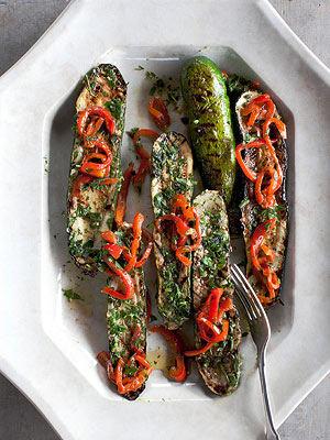 Zucchini Steaks with Herb Garden Chimichurri