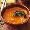 Sweet Potato Soup with Kale Chips