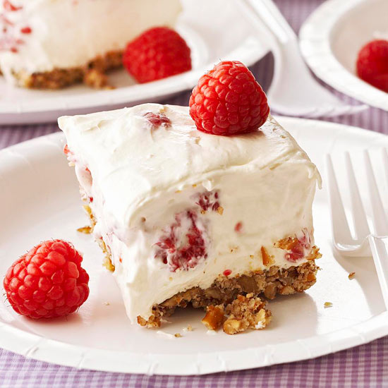 Raspberry White Chocolate Dessert Squares