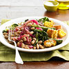 Beans & Greens with Corn Bread Croutons