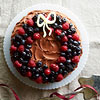 Chocolate-Berry Wreath Cake