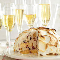 Baked Alaska with Rum Pudding Ice Cream