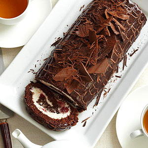 Black Forest Cake Log