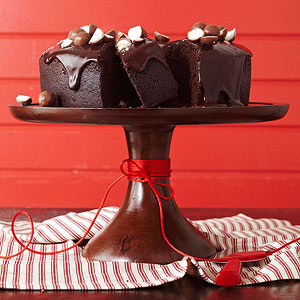 Malted Chocolate Bundt Cake with Chocolate Glaze