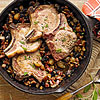 Pork Chops with Chestnuts, Onions, and Dried Plums