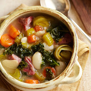 Slow Cooker Ham and Lima Soup