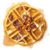 Pumpkin Waffles with Maple-Pecan Cream