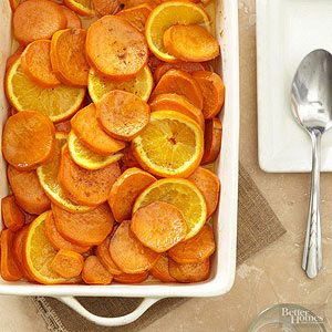 Candied Orange Sweet Potatoes