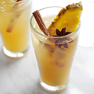 Mulled Cider and Pineapple Cocktail