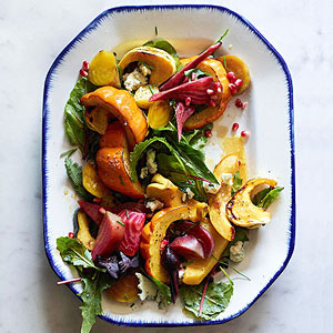 Roasted Acorn Squash and Beet Salad