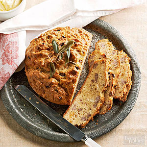 Brown Butter and Sausage Quick Bread