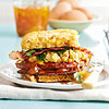 Sweet Potato Biscuit Sandwiches with Ham and Redeye Gravy