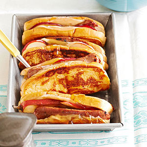 French-Toasted Sausage and Pear