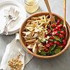 Pasta with Chicken, Spinach, Tomatoes & Feta Cheese