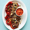 Roasted Pork Tenderloin with Red Pepper Pesto